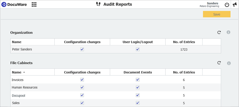 Audit and track information